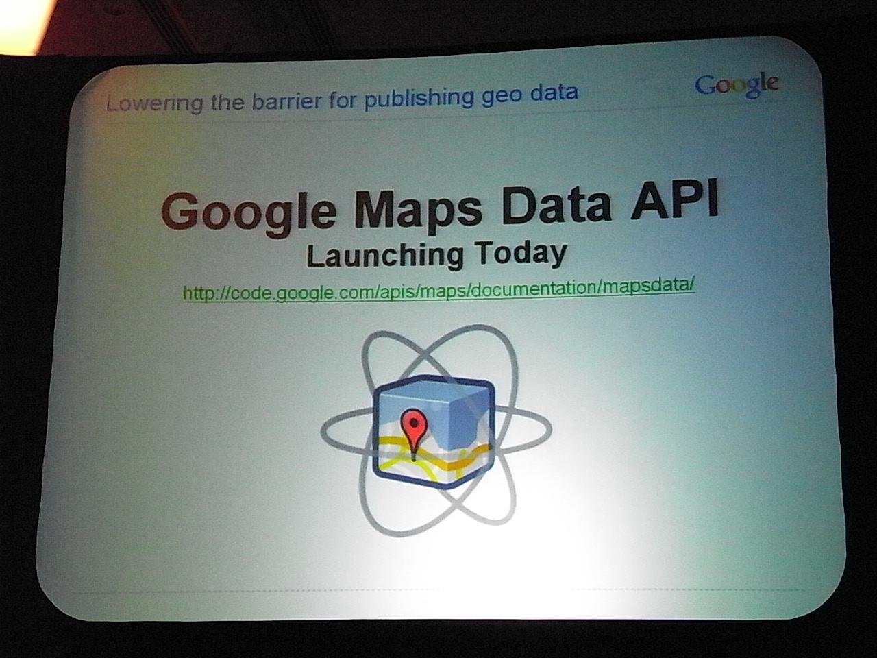 Google Maps Data API 公開